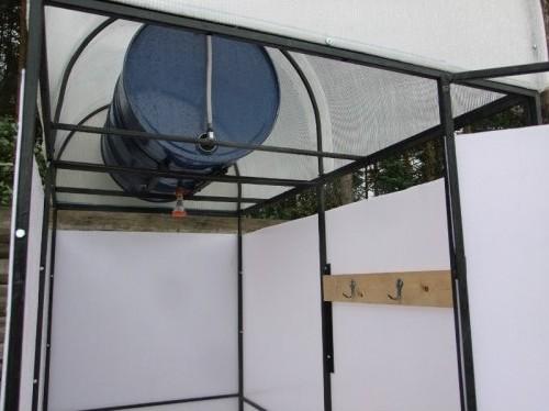 душ садовый с раздевалкой и подогревом