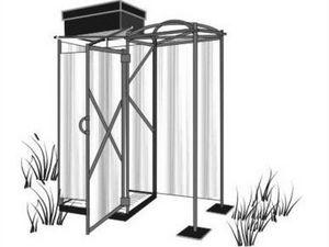 дачный душ с подогревом и раздевалкой
