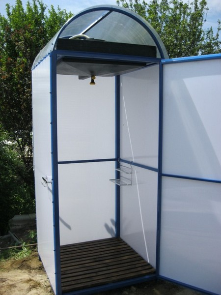 дачный душ из поликарбоната