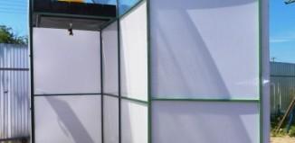 душ для дачи из поликарбоната с раздевалкой