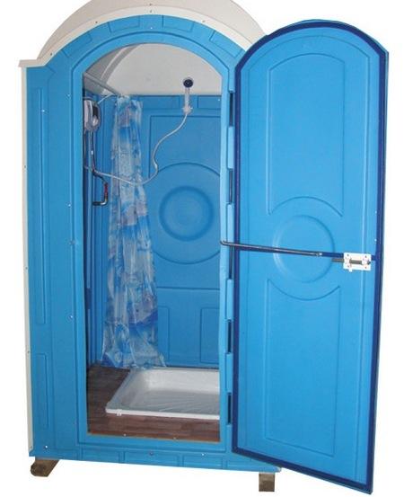 пластиковый душ с подогревом для дачи
