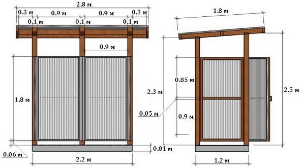 Как построить душ и туалет на даче своими руками чертежи 79