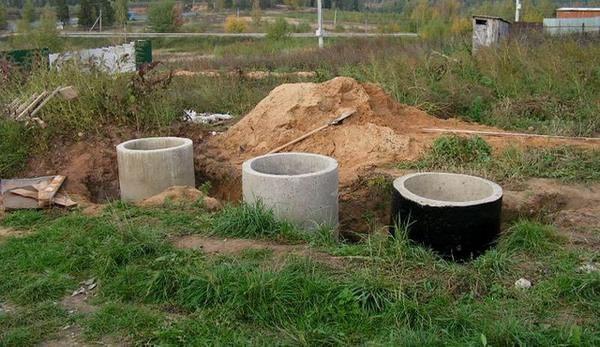 канализация для частного дома из бетонных колец