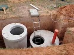 септик для бани из бетонных колец