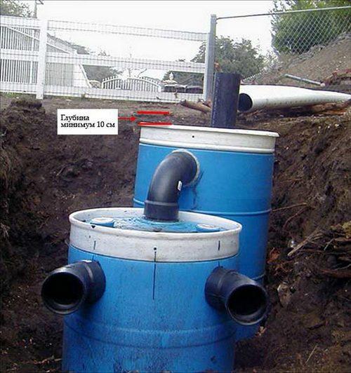 Дачная канализация своими руками из бочек