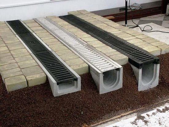 лоток дождевой бетонный