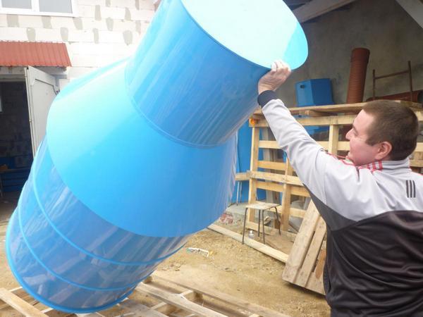 пластиковый скважинный кессон