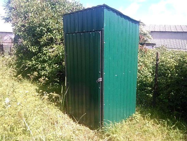 уличный туалет из профнастила