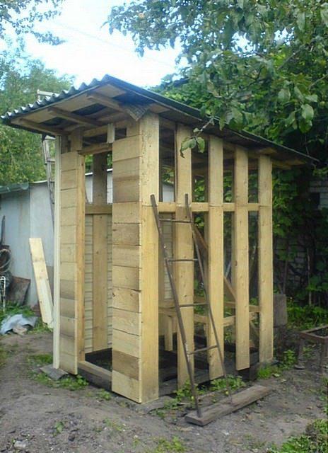 Как на даче быстро построить туалет на даче