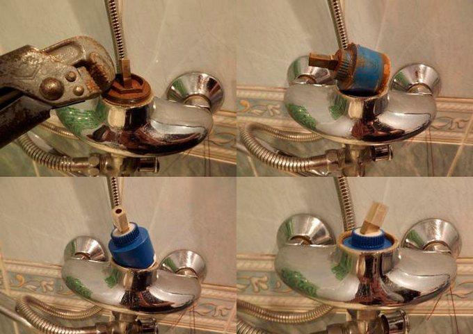 ремонт смесителя для ванной с душем