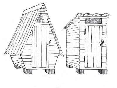 домики для туалета