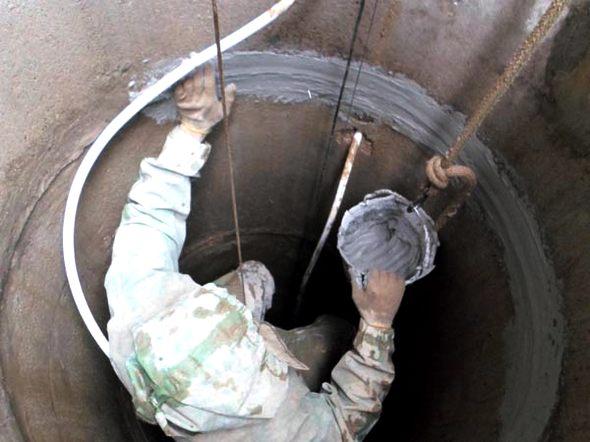 ремонт колодца из бетонных колец своими руками