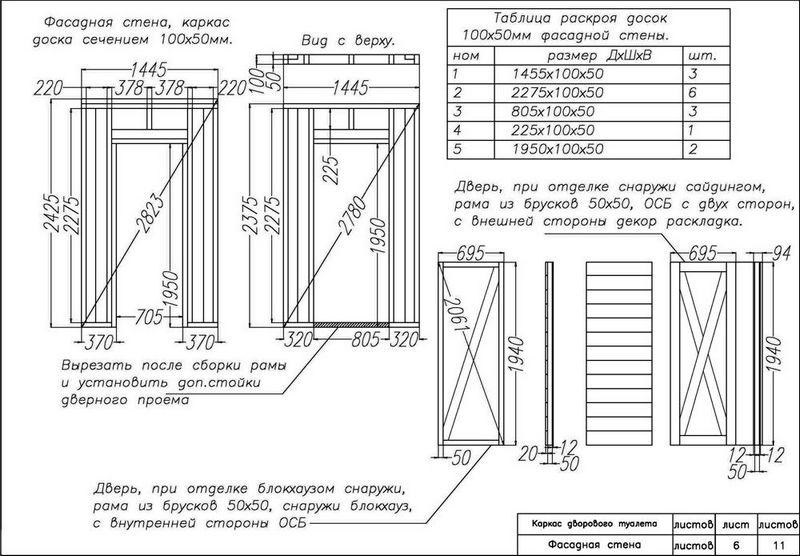 Дачный туалет своими руками: 48 чертежей фото 11
