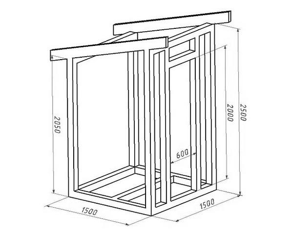 построить туалет на даче своими руками размеры