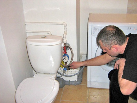 установка автоматической стиральной машины