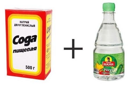 прочистить трубы содой и уксусом