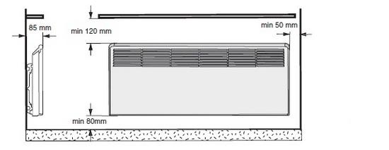 схема установки конвектора
