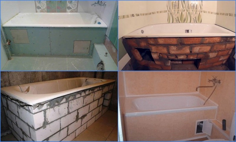 самодельные экраны для ванны