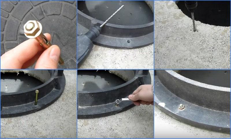 монтаж люка для канализации