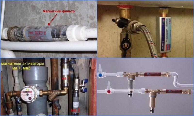 магнитные фильтры в трубопроводе