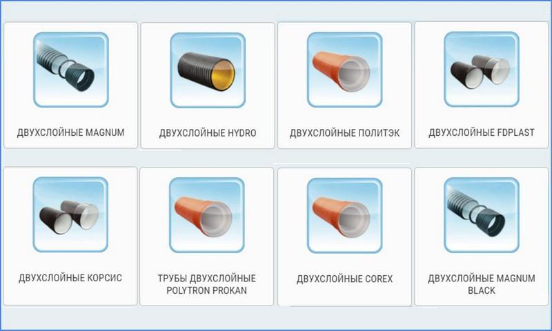 популярные марки труб
