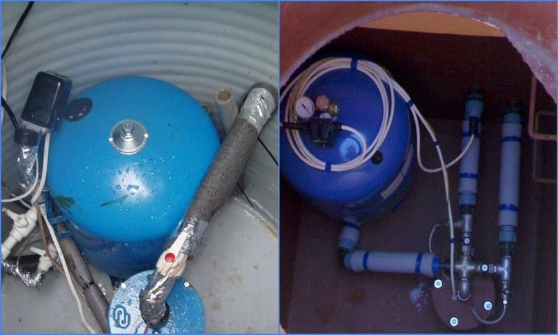 При теплоизоляции диафрагм установка