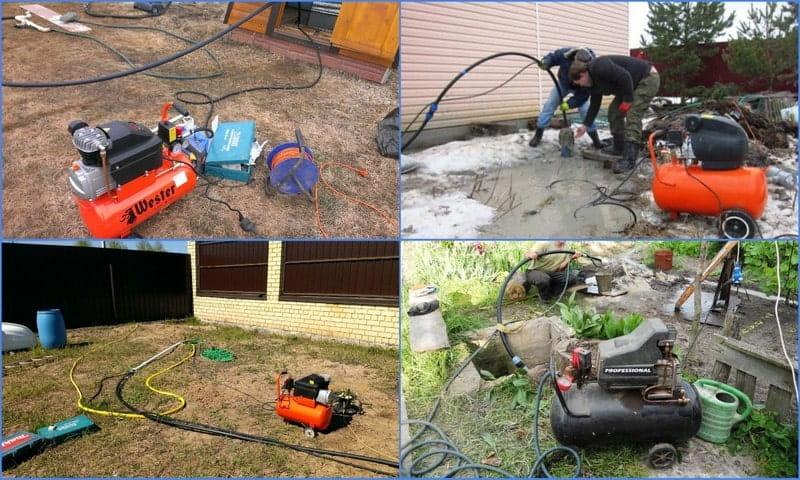 чистка скважины методом эрлифта