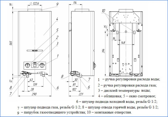 Правила установки газовой колонки в квартире