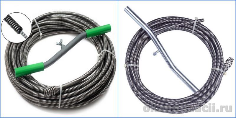 Сантехнический трос для прочистки канализации: как выбрать и пользоваться