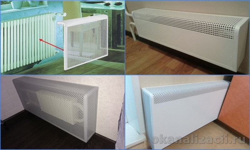 Экран для радиатора отопления: чем закрыть батарею?